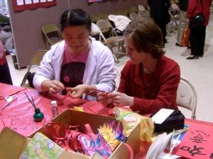 Rose making crafts with Iris
